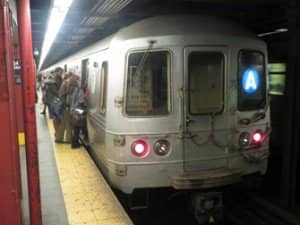 The A train in New York 300x225