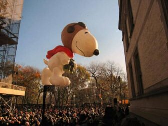 Macys Thanksgiving Parade in NYC Snoopy