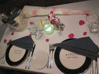 Valentine's Day Cruise in NYC - Table Setting