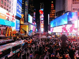 Times Square in New York - At Night