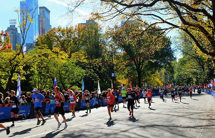 New York Marathon - Runners in Central Park