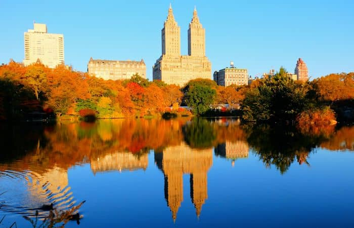 Central Park in New York - fall colours