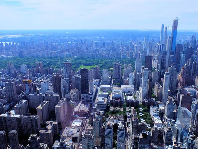 New York Helicopter Tour - View of Central Park