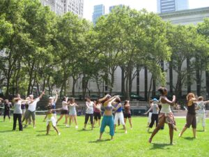 Free dance classes in Bryant Park