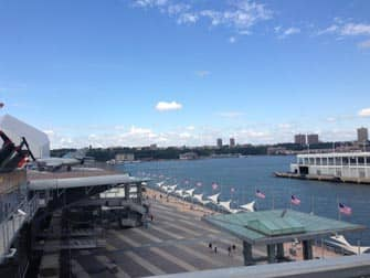 Intrepid Sea, Air and Space Museum in New York - view