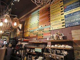 Bagels in NYC - Grey Dog interior