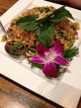 Vegetarian Restaurants in New York - pineapple fried rice