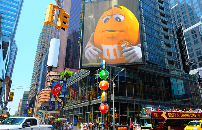 M&M's Store on Times Square - Exterior