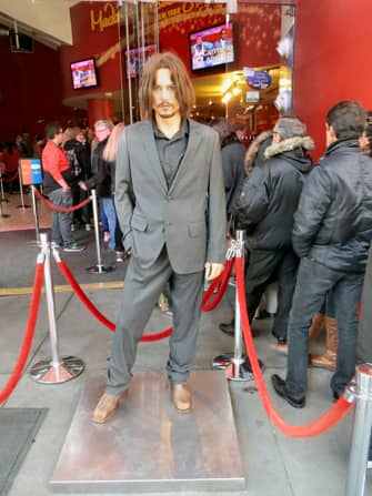 Madame Tussauds in New York - johnny depp