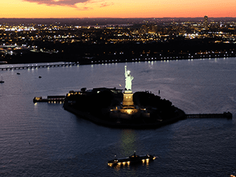 Evening Helicopter Tour and Sightseeing Cruise in New York - Statue of Liberty