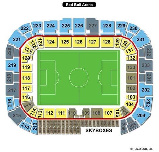 New York Red Bulls - Red Bull Arena Seating Chart