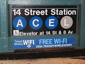 Wi-Fi in New York - Free-Wifi in the subway station