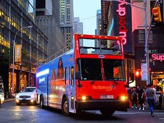 Gray Line Hop-On Hop-Off bus in New York - Night Loop