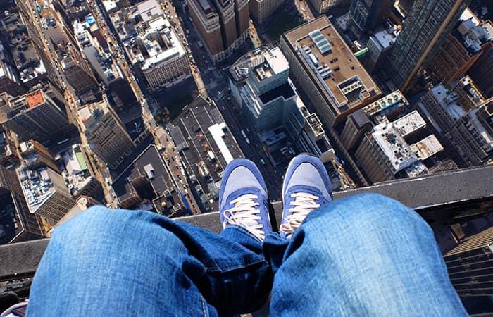 No Door Helicopter Tour in New York - Shoe Selfie